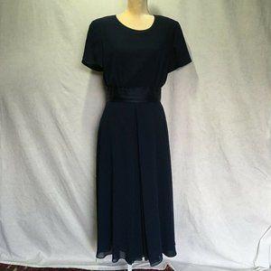 Talbot's Short Sleeve Sheer panel dress